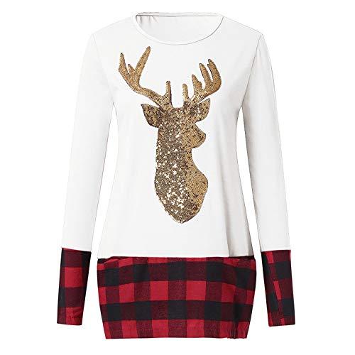 O'vinna Langarm Kapuzenpullover Kleid, Mantel Coated Weihnachten Rentier Sweatshirt...