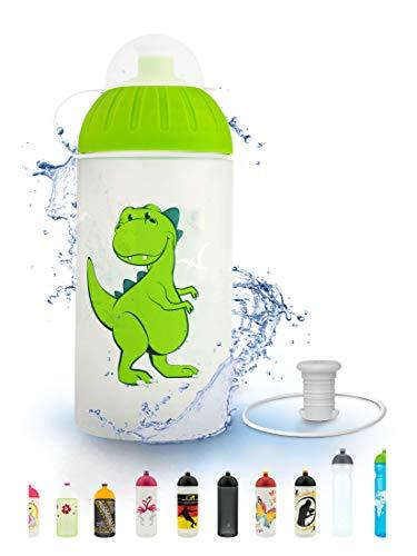 FreeWater Trinkflasche, 500 ml, Dino: schadstofffrei, spülmaschinengeeignet, auslaufsicher, langlebig