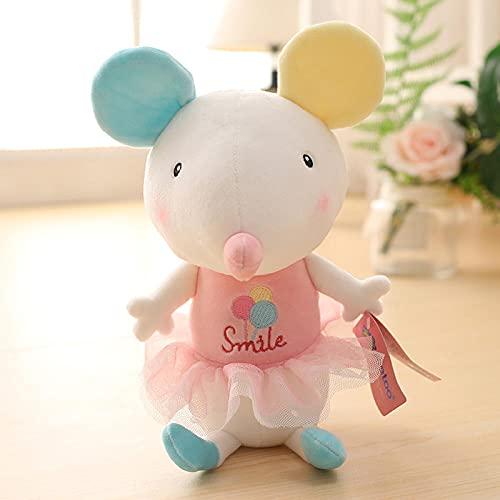 Bedom wallpaper Colorido ratón muñeca colgante juguetes de peluche mini trompeta muñecas-princesa polvo ratón colorido padre_38 cm grande 12.5 pulgadas