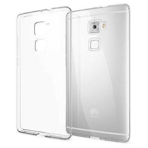 NALIA Handyhülle kompatibel mit Huawei Mate S, Soft Slim TPU Silikon Hülle Cover Hülle Crystal Clear Schutzhülle Dünn Durchsichtig, Etui Handy-Tasche Back-Cover Smart-Phone Schutz Bumper - Transparent