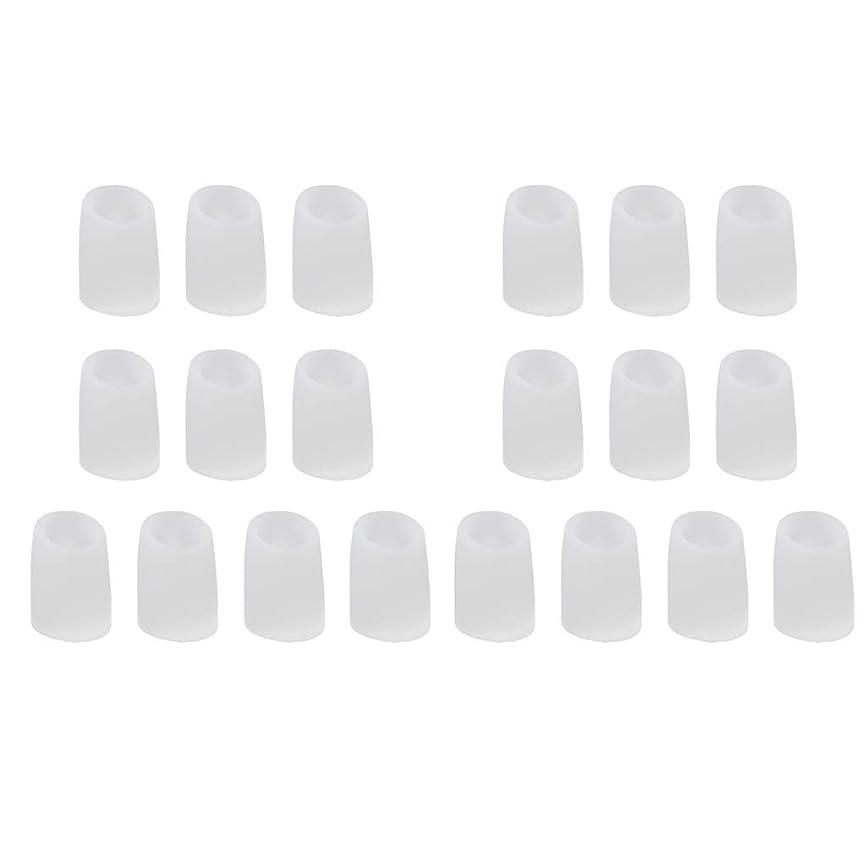 起こりやすい不完全不十分なCUTICATE 足指保護キャップ つま先プロテクター つま先 キャップ シリカゲル 柔軟性 洗える 20個 全2サイズ - L