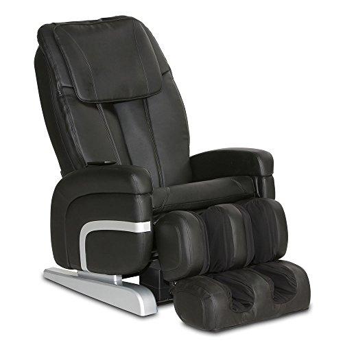 Massagesessel Relax Premium Sessel Fernsehsessel Massage Entspannungssessel (Schwarz)