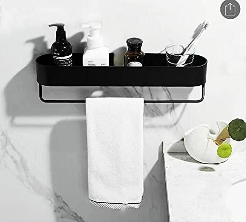 Estanteria Baño Ducha,Organizador Estante Baño Aluminio,Estanteria para Baño,Ducha Bañor Organizador , enlaParedpara Estantes con Barra de Toalla。