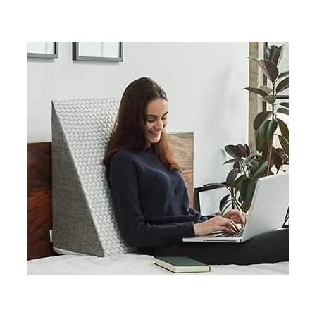 FITNESS INDIA™ Memory Foam Wedge Pillow (20x18x10 Inch) Multi Purpose Lumber Support, Pregnancy Pillow, Relief from Acid Reflux, Snoring & for Back Sleepers