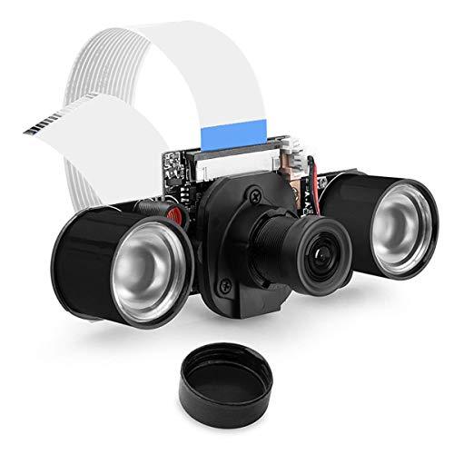 iFCOW Módulo de cámara 5MP Focal ajustable Cámara con IR-Cut integrado para Raspberry Pi 2/4/3B+