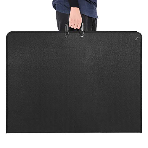1st Place Products Professional Art Portfolio Case - 24 x 36 Inches - Light Weight & Durable - Shoulder Strap & Handle Options - Three Inside Pockets - Water Resistant - Documents Posters Monitors