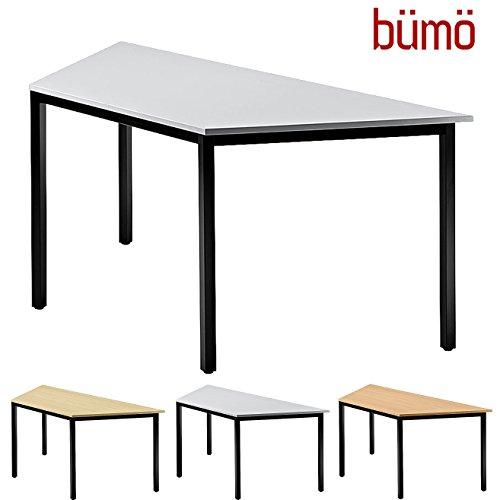 BÜMÖ Konferenztisch | Besprechungstisch für das Büro | Schreibtisch in 3 Farben & 4 Größen verfügbar | Büroschreibtisch (Grau, L = 160 cm...