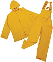 STANSPORT - Heavy Duty Commercial Rain Suit for Work, Fishing & Foul Weather Conditions (Yellow - L)