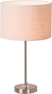 lux.pro] Lámpara de mesa moderna (E14) - Negro, cromo - Ø 25 cm ...