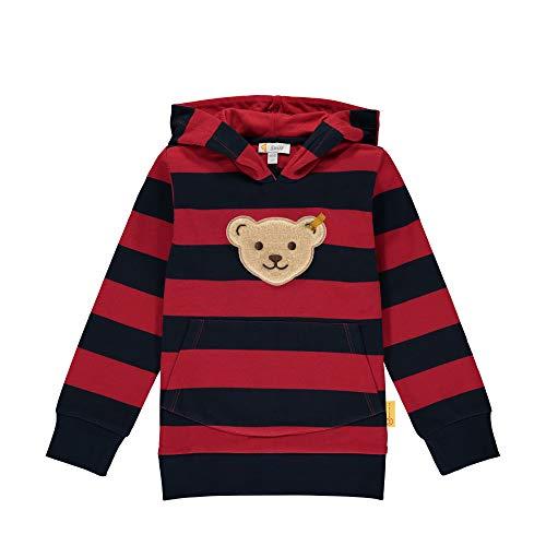 Steiff Jungen mit süßer Teddybärapplikation Sweatshirt, Rot (Tango RED 4008), 116