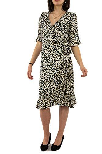 Geisha jurk 07112-20 000720 zand/blauw combi