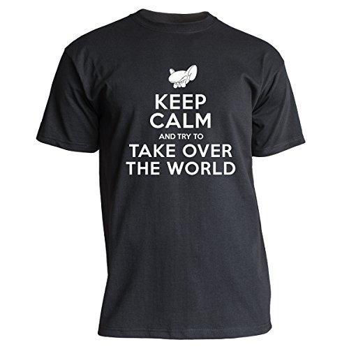 "Nukular T-Shirt ""Keep Calm (Brain-Style), Farbe schwarz, Größe L"
