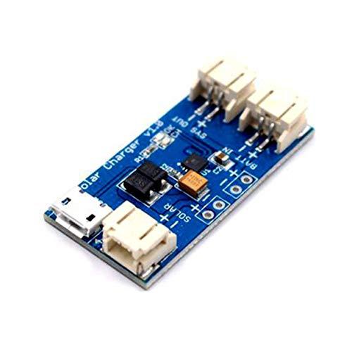 Tablero de Cargador Solar Lipo, Nuevo Super Mini Cargador Solar Lipo Tablero Cn3065 Módulo de Tablero de Cargador de batería de Litio 500Ma Dc4.4-6V Soporte de Carga USB