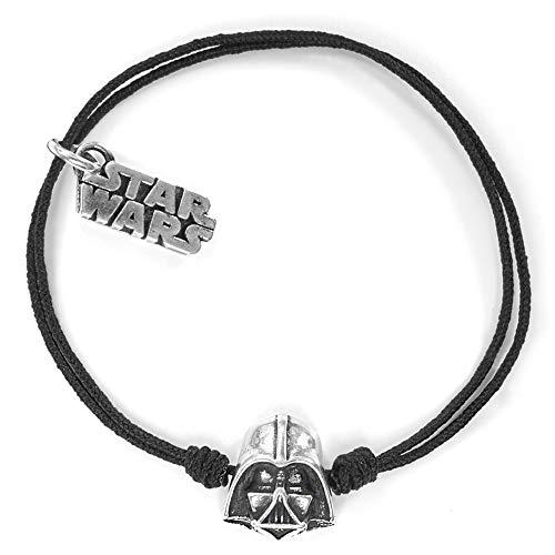 LifeisLAF Pulsera algodón Star Wars de Nudos y Casco Darth Vader (Producto Oficial Lucas Film LTD).