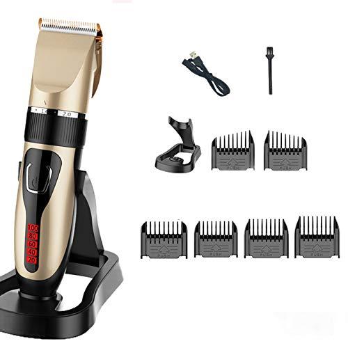 Clippers para los Cabello para Hombres Cable sin Cable Trimmer Cabello Impermeable Skin Clipper Set Electric Haircut Kit de Corte de Pelo Lithium Batería USB Recortador de Barba Recargable