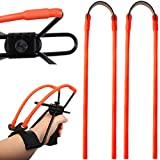 AIKESIWAY Slingshot Rubber Band Replacement, 2PCS Elastic Rubber Tubular Bands Sets for Hunting Catapults 、Outdoor Shooting Games;Suitable for All Insert-Yoke-into-Tube Style Slingshots (2)