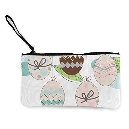 Easter Seasonal Background Hanging Decorated Canvas Wallet Exquisite Coin Purses Small Canvas Coin Purse is Used to Hold Coin Change, ID and Other
