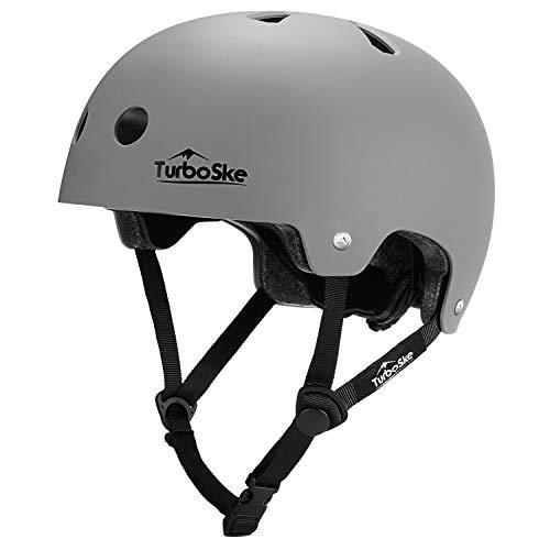 TurboSke Skateboarding Helmet, Rollerblading Longboard Roller Skate Helmet for Youth, Kids, Men, Women (S/M (20.5