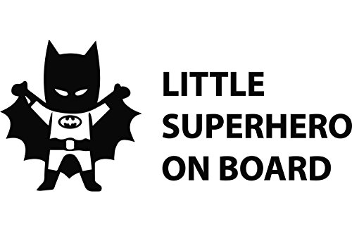 Batman Little Superhero on Board Baby on Board ca 22x10cm Aufkleber Sticker Decal für alle glatten Oberflächen. Auto, Wände, Fenster, Tür uvm.