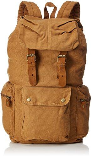 Koolertron nuovo zaino da uomo o da donna in pelle d'epoca tela zaino trekking viaggio tote bag colore: marrone