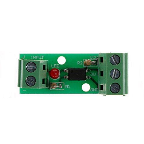 BIlinli 12V 1-Kanal 80KHz Optokoppler-Isolationsmodulplatine Kein Din-Rail-SPS-Prozessor