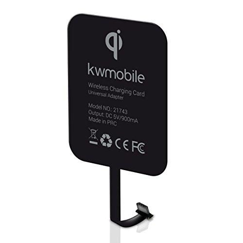 kwmobile Qi Ladeempfänger mit Micro-USB Anschluss - Universal Receiver für Qi Ladestation - Smartphone mit Micro USB Ladeanschluss induktiv Laden