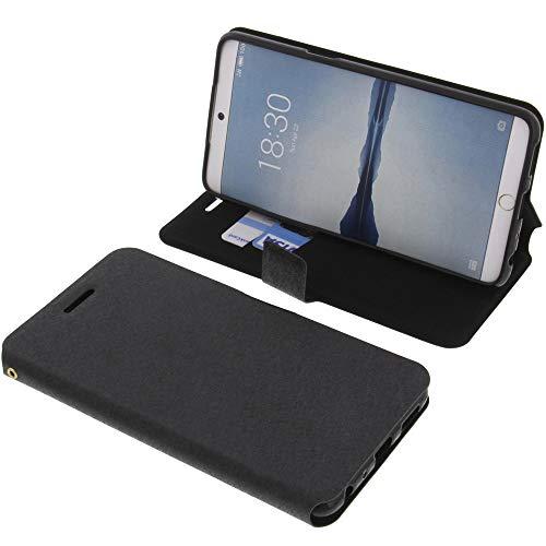 foto-kontor Tasche für Meizu 15 Plus Book Style schwarz Schutz Hülle Buch