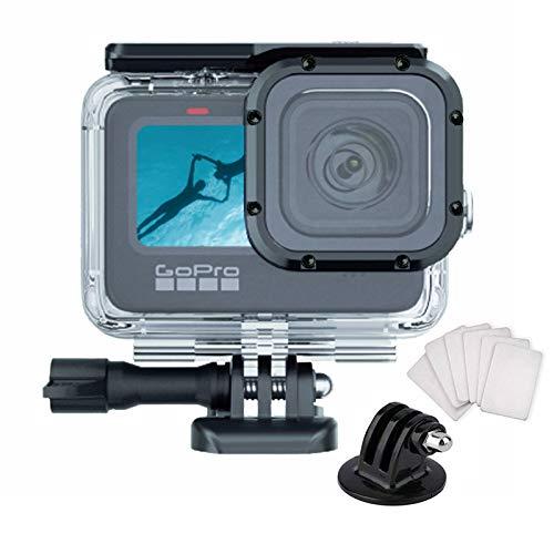 Wasserdichtes Gehäuse für GoPro Hero 9 Zubehör, Unterwasser-Tauchen, 50 m, Schutzgehäuse für Go Pro Hero9 Action-Kamera mit Halterungszubehör