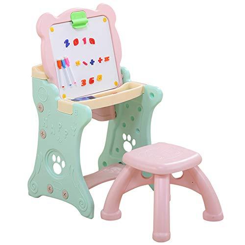 Caballete para Niños Caballete de Arte de Doble Cara con Pizarra y Pizarra Magnética para Dibujo en Niños Pequeños,A
