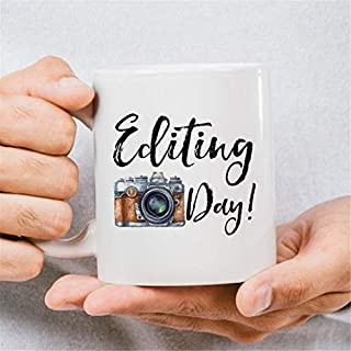 LECE funny From the best gift Editing Day Coffee Mug, Photographer Coffee Mug, Camera Lens Mug, Camera Lens Coffee Mug, Photography Mug, Camera Coffee Mug, Camera Mug