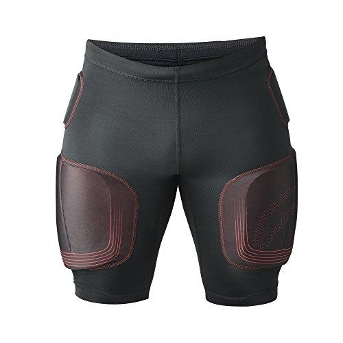 Rehband Kompression RX S Gepolstert an Hüfte Oberschenkel und Steißbein Shorts, Schwarz/Rot, L, 504036