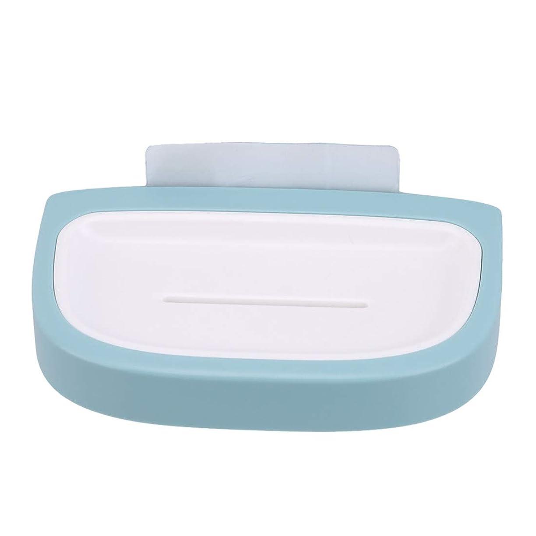 優勢許可する相対性理論VWH 石鹸置き ソープホルダー しっかり固定 壁に 石けん皿 収納ケース(水色)