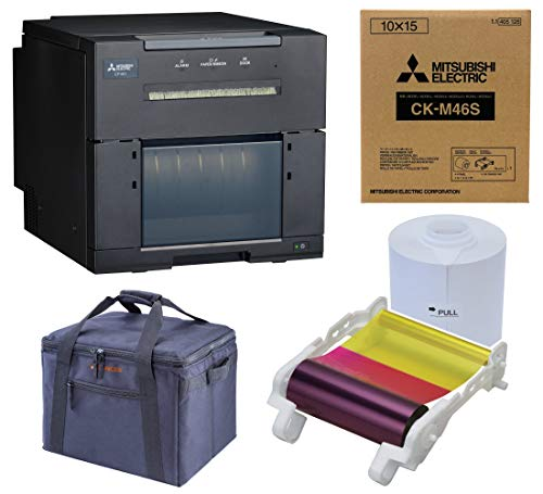 Mitsubishi CP-M1A Professional Dye Sub Photo Printer for Booth and Event Photography Bundle with Slinger Padded Bag, 4x6-inch Media (750 Prints), Includes 3 Year Warranty