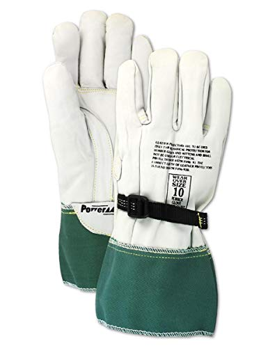 MAGID Low Voltage Leather Linesman Protector Gloves
