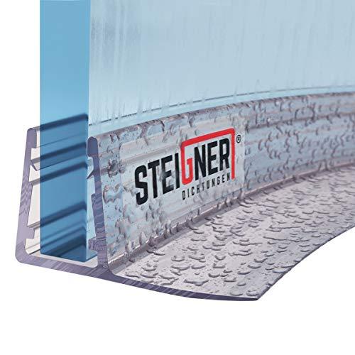 STEIGNER Duschdichtung, 100cm, Glasstärke 6/7/ 8 mm, Vorgebogene PVC Ersatzdichtung für Runddusche, UK02