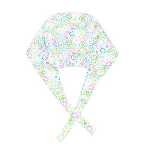 TENDYCOCO Gorra de Trabajo Unisex Transpirable 100% algodón Puro Sombrero de Belleza para Hombres Mujeres Gorra de Trabajo Limpia para el Cabello