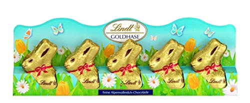 Lindt & Sprngli Mini Goldhase, 5er Pack (5 x 50 g)