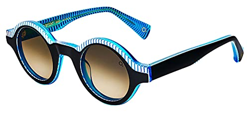 Etnia Barcelona Gafas de Sol THE EINSTEIN Black Blue/Brown Shaded 44/25/147 unisex