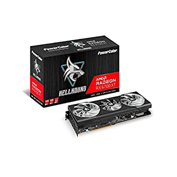 PowerColor Hellhound AMD Radeon RX 6700 XT Gaming Graphics Card with 12GB GDDR6 Memory Powered by AMD RDNA 2 Raytracing PCI Express 4.0 HDMI 2.1 AMD Infinity Cache