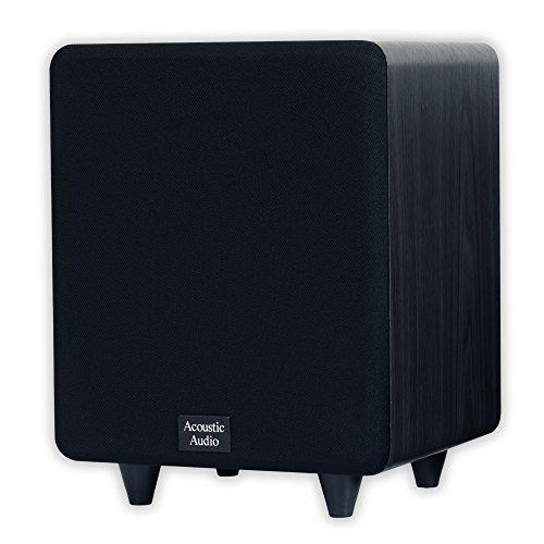 Acoustic Audio CS-PS8-B Front Firing Subwoofer (Black)