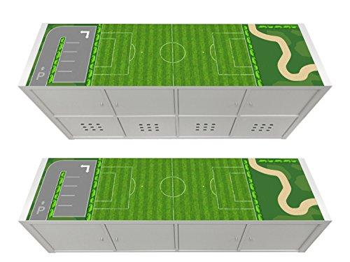 STIKKIPIX Cancha Cascarillo para Muebles | KSWL12 | Adhesivos adecuados para el Estante KALLAX de IKEA (Mueble no Incluido)