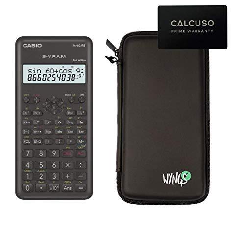 Casio FX-82MS 2 + SafeCase Funda protectora SafeCase + Extensión de la garantía a 60 meses