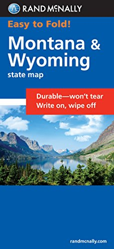 Rand McNally Easy To Fold: Montana, Wyoming (Laminated Fold Map) (Rand McNally Easyfinder)