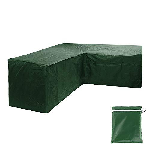Your 's Bath - Juego de fundas para muebles de jardín (215 x 215 x 87 cm), color verde