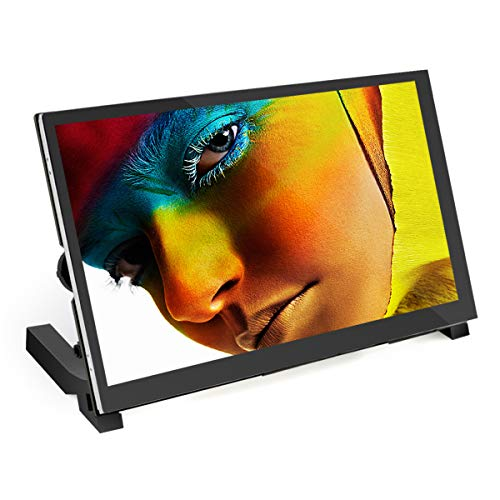 for Raspberry Pi 4, ELECROW Raspberry Pi Display with Stand and Speakers 7-inch Touchscreen Portable Monitorwith Resolution 1024×600 for Raspberry Pi, Laptop, Game Consoles
