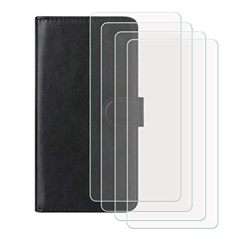 YZKJSZ Funda para Sony Xperia 10 III (6.0') + [4 Piezas] Cristal Templado Protector de Pantalla,Cover Flip Case PU Cuero Caso Función de Soporte Billetera Tapa Carcasa - Negro