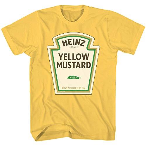 Heinz Mustard Bottle Logo Classic Vintage Retro Funny Halloween Costume Men's T-Shirt (Gold, X-Large)
