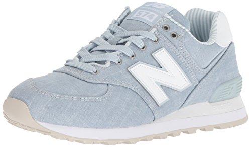 New Balance 574v2, Zapatillas para Mujer, Azul (Light Porcelain Blue White), 35 EU