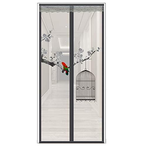 TUANTALL Insektenschutz Balkontür Insektenschutztür Tür Fly Bildschirm Tür Netting Für Insekten Magnetische Fliegen Insekt Bildschirm Tür a,110-210cm