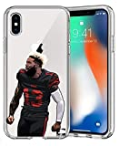 Epic Cases iPhone6 Plus iPhone 7/iPhone 8 Plus Case Ultra Slim Crystal Clear Football Series Soft Transparent TPU Case Cover Apple (OBJ The Catch, iPhone 6/7/8 Plus)